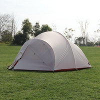 Hillman 4 Pessoa Barraca de Camping Luz Camadas Duplas De Silicone 20D Haste de Alumínio Impermeáveis E À Prova de Vento Com Cópia Do Pé