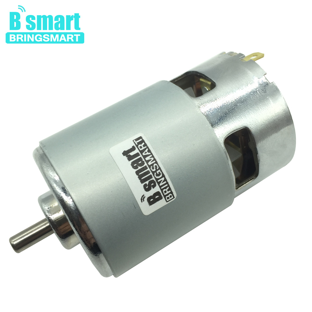 Wholesale 775 24V DC Motor Large Torque Motor 4000rpm/8000rpm With Cooling FAN Small Noise Motor 545 large torque dc 3 24v motor low noise motor wind turbines micro motor diy motor for diy toy accessories