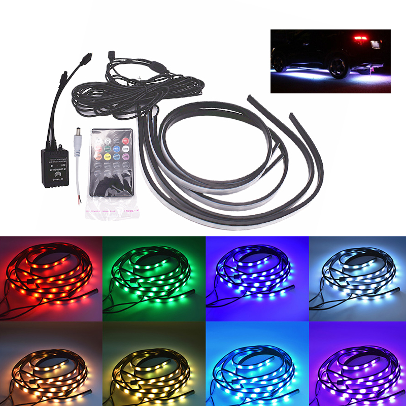 Imported From Abroad 90/120cm Car Rgb Led Strip 5050 Smd Dc12v 6000k Rgb Led Strip Under Car Tube Underglow Underbody System Neon Light Kit Car Headlight Bulbs(led)