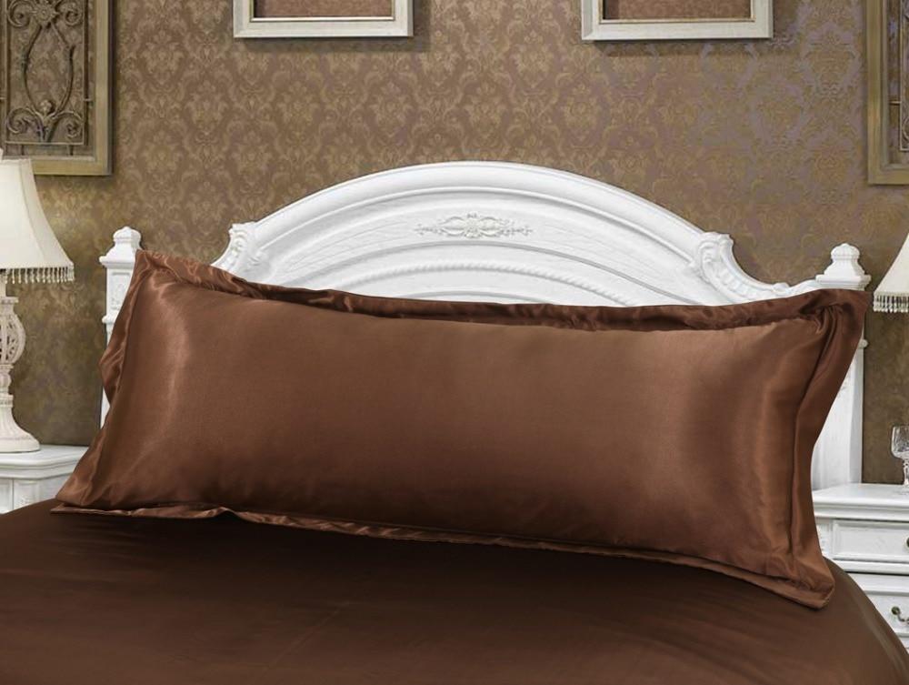 taie d oreiller grande dimension Haut de gamme Confortable café Double Taie d'oreiller En Soie 1  taie d oreiller grande dimension