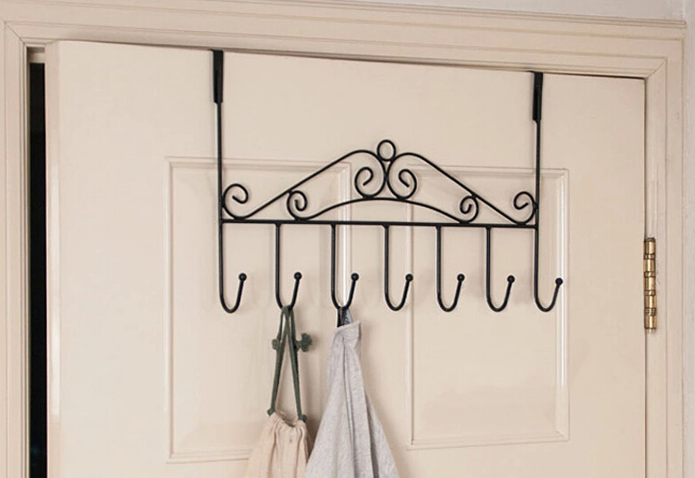 Creative Iron Gate hook trace strong sticky coat hooks cabide hanger clothes hangers hanging wall Free Nails - Home Decoration Super Market store