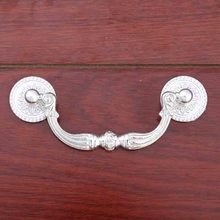 96mm retro style silver drawer cabinet pulls knobs silver dresser door handles 3 75 shaky rings