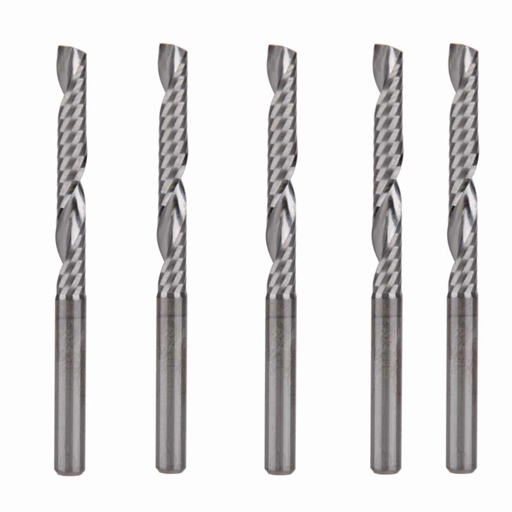 5pcs Carbide end mill milling cutter tool single flute spiral CNC bits 5mm 32mm