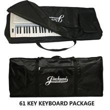 61 key black electronic organ bags keyboard case practical musical instruments portable bags