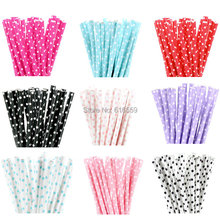 25pcs/lot Mini Dot Colorful Paper Straws for Birthday Cake Decor Wedding Baby Shower decorative Drinking Straws Supplies
