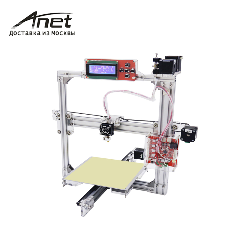 Black WHITE Anet A2 A2S new Reprap Prusa i3 3d printer/ metal frame new LCD display/ shipment from Moscow/PLA 8G SD card as gift additional soplo nozzle 3d printer kit new prusa i3 reprap anet a6 a8 sd card pla plastic as gifts express shipping from moscow