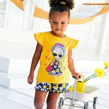 Funfeliz Girl Summer Clothing Set 2018 Baby Girls Clothes Tracksuits 1-8T Casual T shirt Shorts Floral Striped Toddler