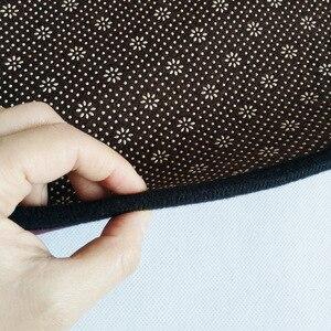 Image 3 - Czarny złoty kolor amerykańska retro dywan czeski styl narodowy okrągła mata podłogowa pluszowe antypoślizgowe mata do drzwi do salonu sypialnia dywan