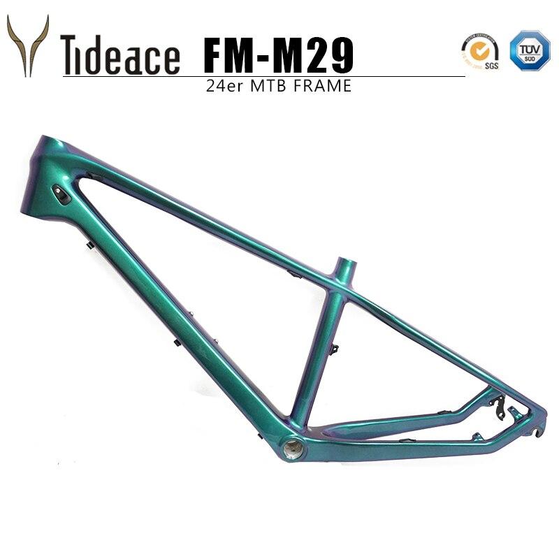Mise à jour 24er Carbone vtt Cadre 13.5 pouces VTT carbone cadre 135*9mm max 2.3 pneu vtt vélo cadres livraison gratuite