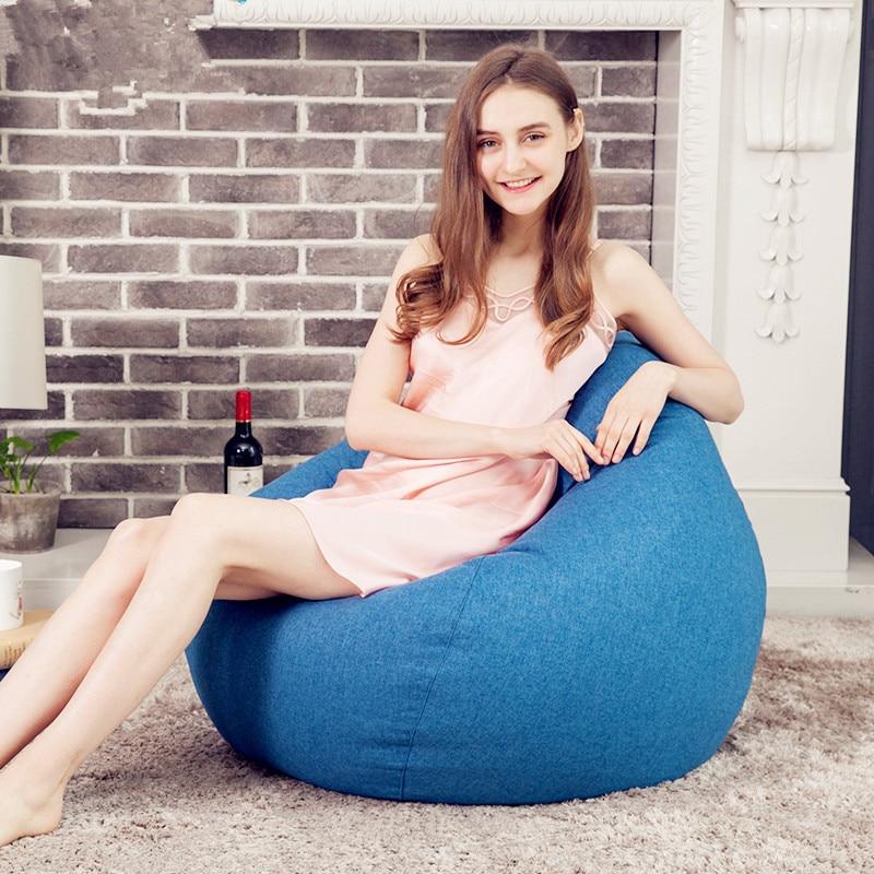 2018 créatif haricot sac tatami paresseux canapés chargement 150 kg unique hôtel futon coton canapé-lit linge doux à manger chaises en gros