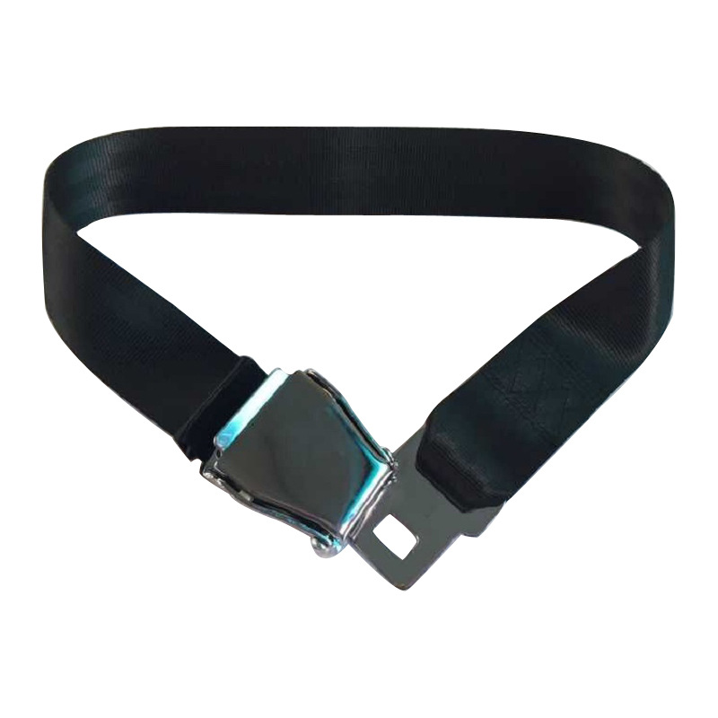 Adjustable Airplane Seat Belt Extension Extender Buckle Black Aircraft Buckle Belt Extended High-strength Polyester Ribbon image