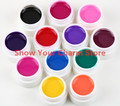 12 Colors Professioanl Nail art Solid Color UV GEL Pure Colorful  Nail Gel UV gel set  UV Builder Gel