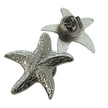 Manufacturer Promotional Souvenir Badge Plated Silver Starfish