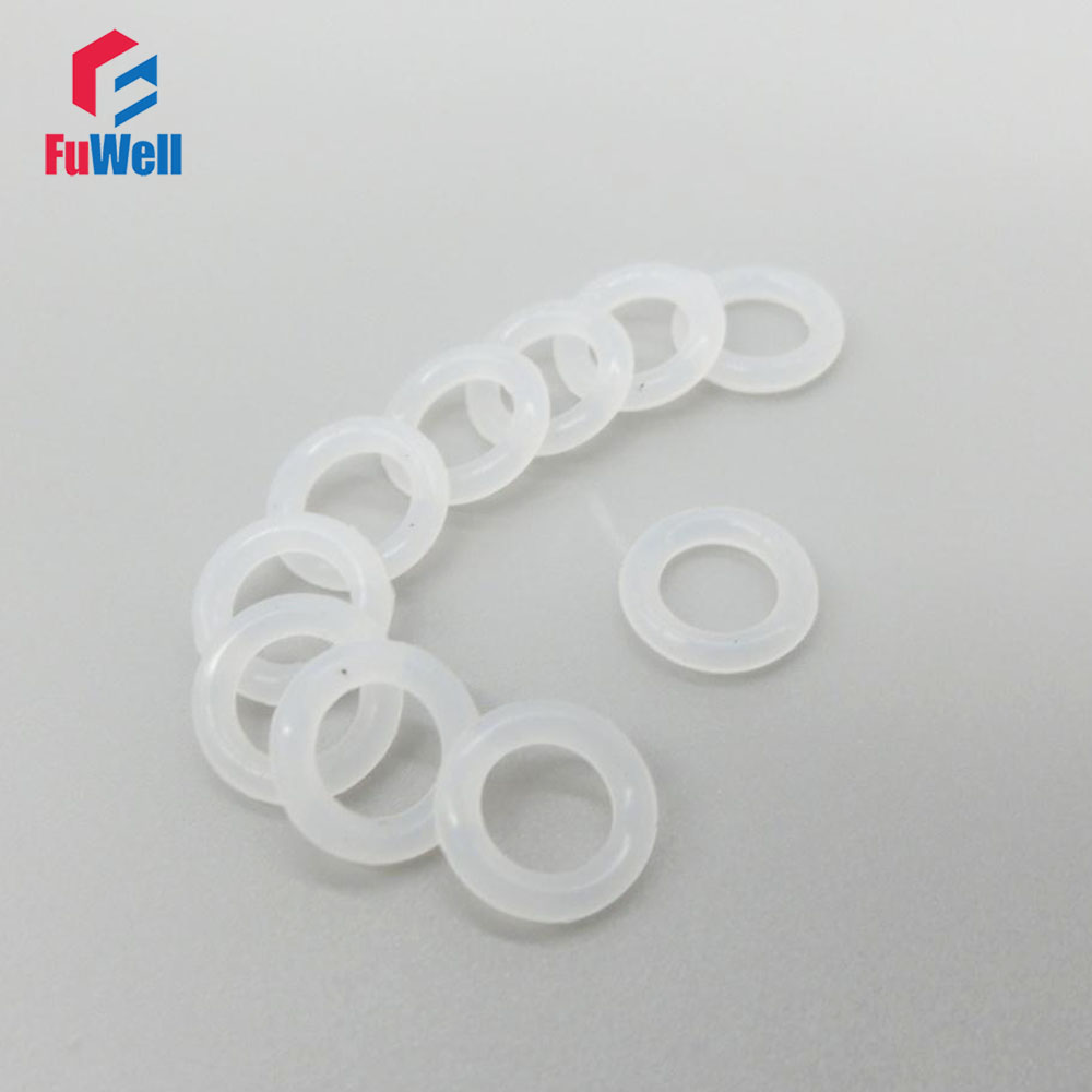 White Silicon O-ring Seals Gasket Food Grade 2.5mm Thickness 37/38/39/40/41/42/43/44/45/46mm OD O Rings Sealing Gasket Washer commercial non stick 220 v electric dutch mini pancakes poffertjes dorayaki iron maker machine