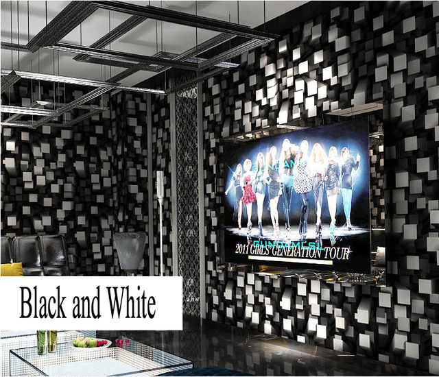 Gold Foil Wallpaper For Walls Modern Black And White 3D Stereoscopic Tv Video Wall Paper Household