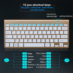 Image 3 - Ultra Slim 2.4G Wireless Keyboard Portable Mouse Mini Set Keyboard for IOS Android For Mac/Notebook/TV Box/PC Office Supplies