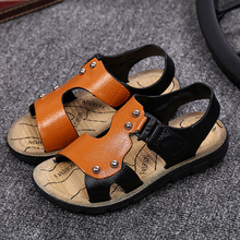 2016 Summer new Korean children boys sandals casual sandals soft bottom baby shoes toddler shoes