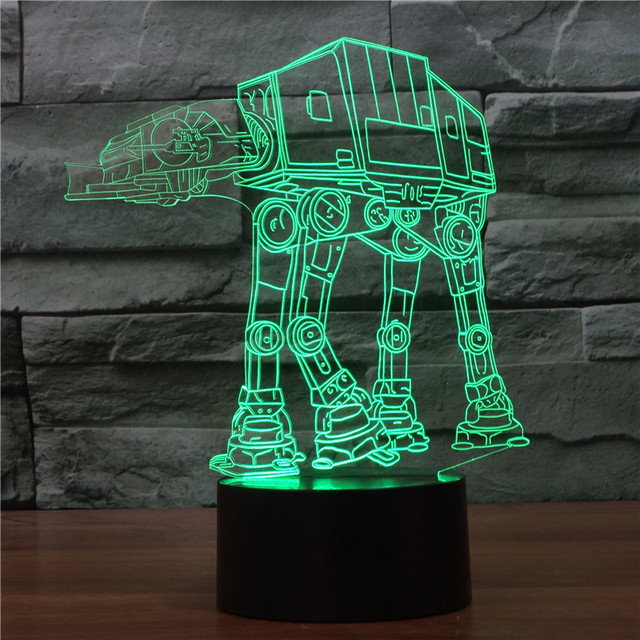 Star Wars Lamp Troop Dog 3d Illusion Light Robot Acrylic Night Light