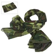 Outdoor Military Camouflage Tactical Mesh Scarf Sniper Face Veil Cotton Scarves Hunting Airsoft Multi Purpose Hiking Scarves