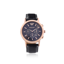 Luxury brand quartz watch, casual fashion men's watches. Leather strap men watch sports. Gift table clock, free shipping