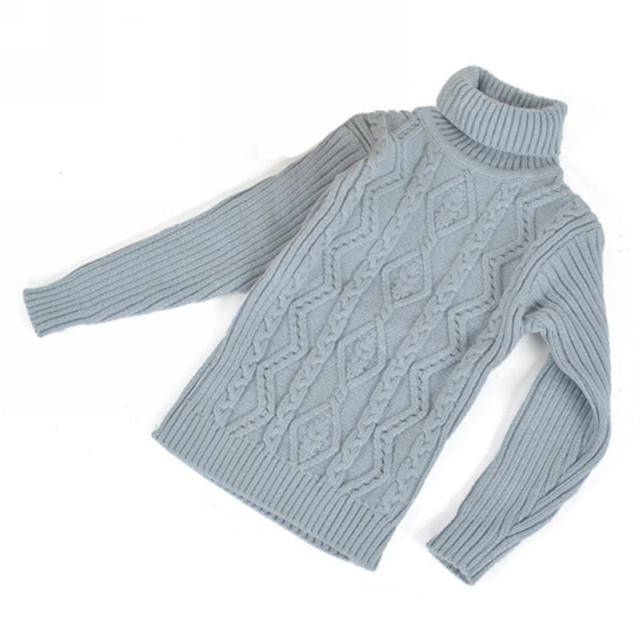 Buenos Ninos Nuevo Otoño/Invierno de Los Niños Niños Suéter de Cuello Alto Bebé Niño/Niña Suéter 4