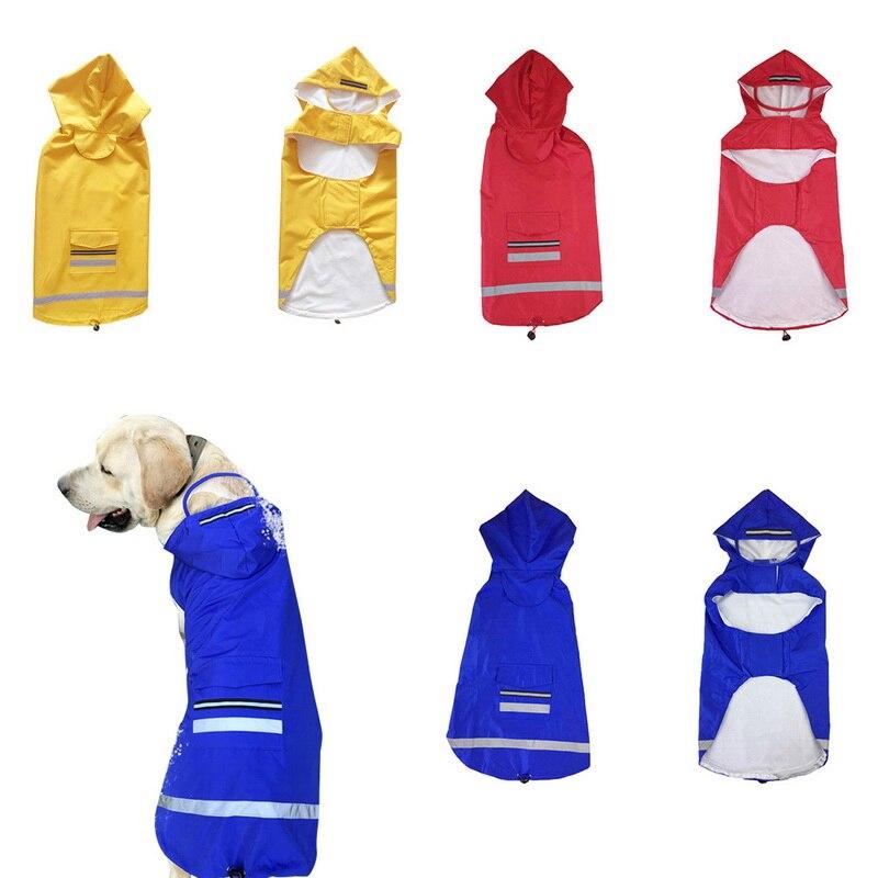 Humorous Pet Big Dog Raincoat Clothes For Labrador Golden Retriever Large Dog Waterproof Jumpsuit Rain Coat Jacket Outer Costume Clothing Elegant In Style Dog Clothing & Shoes