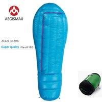 Сверхлегкий удлиняется взрослых спальный мешок 850 Fill Мощность 95% гусиный пух мумия сумки для холодной погоды альпинизмом Кемпинг Пеший Тури
