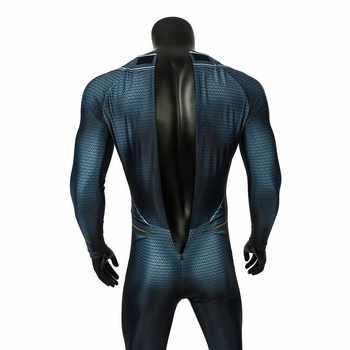 Superman Clark Kent Cosplay Costume Man Of Steel Superhero Halloween Cloak Men Jumpsuit Spandex 3D Print Avengers DC Comics