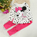 New Minnie T-shirt + Pants Suit Arrival Girls Clothing Set 2pcs/set Baby Girls Casual Long-sleeved T-shirt Dot Leggings Set