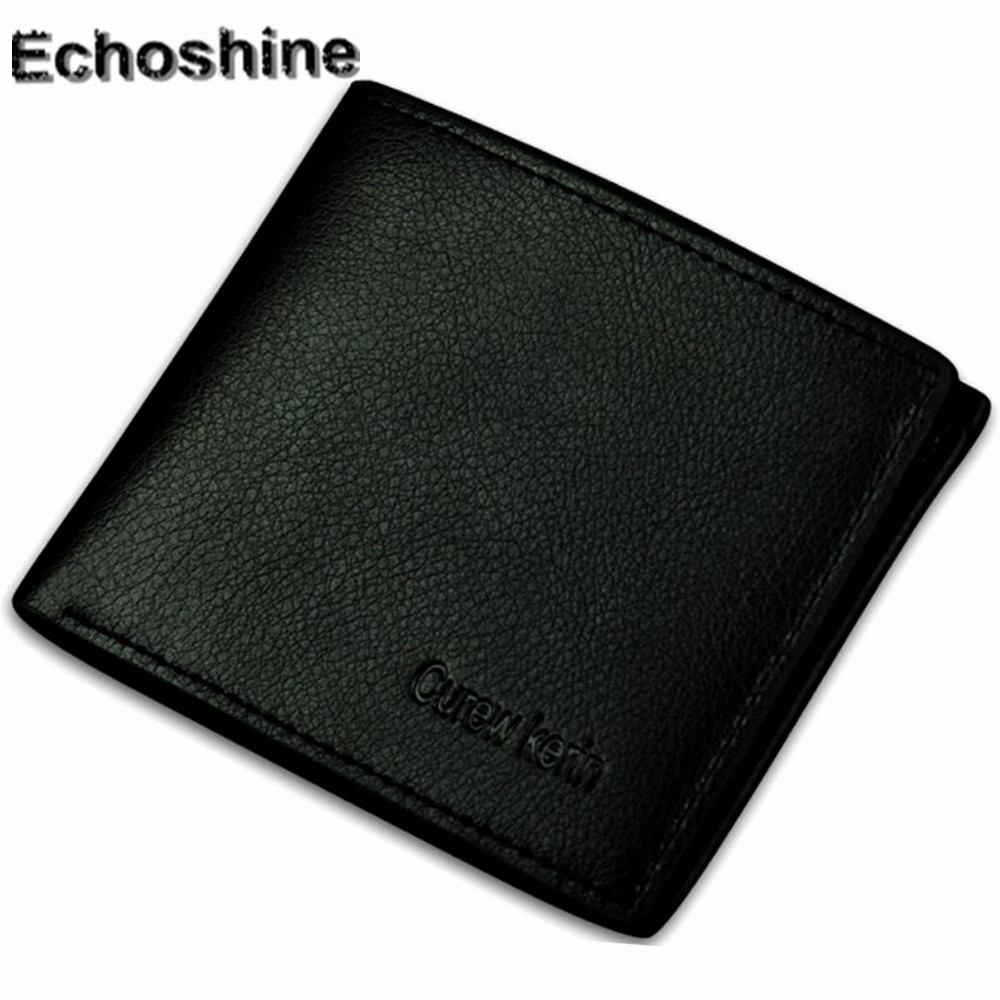2018 classic popular Men Wallet Leather Credit Card Photo Holder Billfold Purse Business Clutchgift wholesale A3500