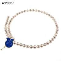 HOOZZ. P שנבחר בקפידה באיכות גבוהה גבוהה ברק לבן יפני Akoya פנינים מתורבתות שרשרת שרשרת תכשיטי נשים