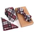 Fashion Business Tie Set Print Ties Pocket Square Towel For Men Wedding Suit Neck Tie Slim Bowtie Handkerchief Set YLL358