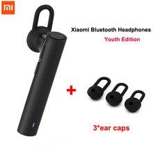 100% xiaomi bluetooth fone de ouvido edição juventude fone de ouvido bluetooth 4.1 xiaomi mi lyej02lm build in microfone handfree