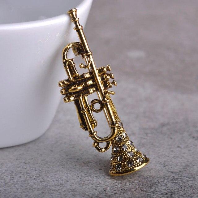 Blucome Vintage Saxophon Form Broschen Fur Frau Musiker Geschenk