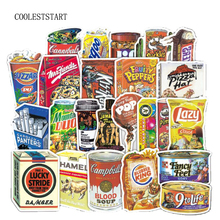 75Pcs Lot Funny Snacks And Drinks Graffiti Stickers For Laptop Car Pad Luggage Phone Bicycle Decal