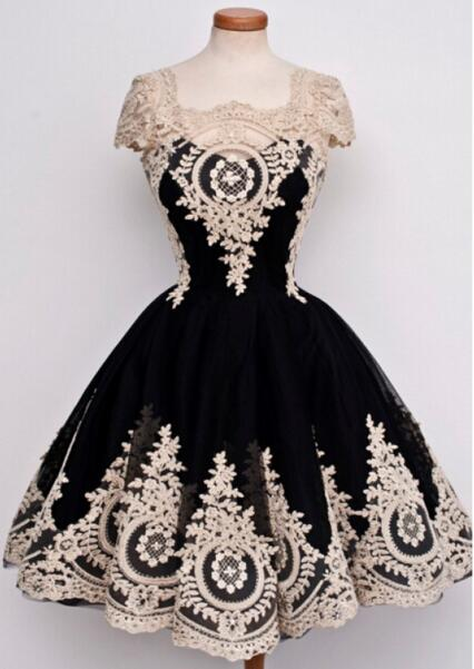 Black retro prom dresses