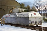Gleagle1/72 Soviet Union Armored Train Model Toy Assembly 82912