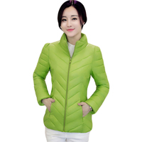 Solid Color Zipper Women Spring Jacket 2017 Autumn Winter Slim Warm Ladies Coat Plus Size Lightweight