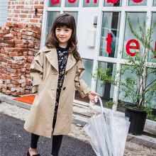 3fedc0fbeac 2017 осень-зима Одинаковая одежда для семьи ветровка для девочек семейная  одежда для мамы и дочки куртка Новый Тренч CC146