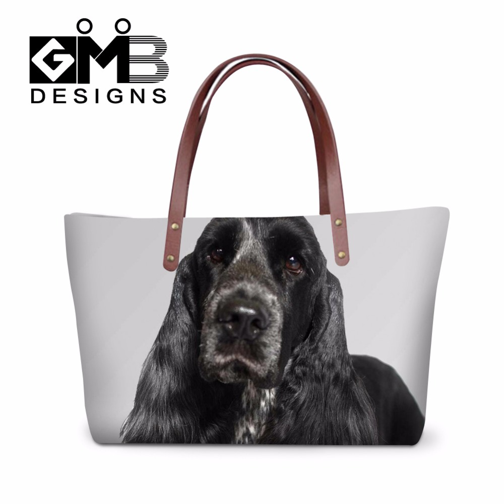 Summer Handbags Dog Printed For S Female Large Capacity Tote Bags Er Spaniel Casual Hand Over Shoudler Bag In Shoulder From
