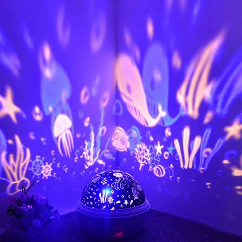 Светодиодный ночник Звездное небо Проектор романтическая лампа огни ночник счастливый подарок сверкающие принадлежности для вечеринки Детская комната украшения