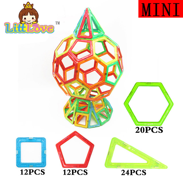 LittLove 68Pcs Magnetic Construction Models Buildi...
