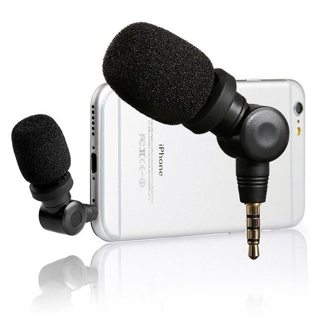 Saramonic SmartMic esnek kondenser mikrofon Mic w/için yüksek hassasiyetli IOS iPad iPhone 5/6/7 iPod dokunmatik akıllı telefon