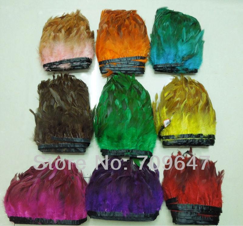 Coque Feather Trim Rooster Feather Fringe Multicolor Irridescent 2 - Artes, artesanía y costura