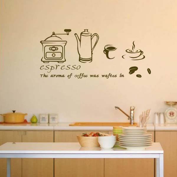 coffee espresso maker wall vinyl stickers cafe shop kitchen home