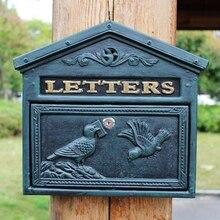 Cast Aluminum Mailbox Mail Box Bird Dark Green Wall Mount Home Garden Decor Metal Vintage Office Apartment Letters Lockable