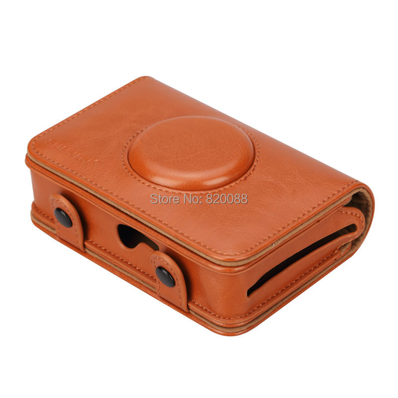 Sunyoy Vintage Pink/Brown PU Leather Case Bag for Polaroid Snap Touch Instant Print Digital Camera,Free Shipping