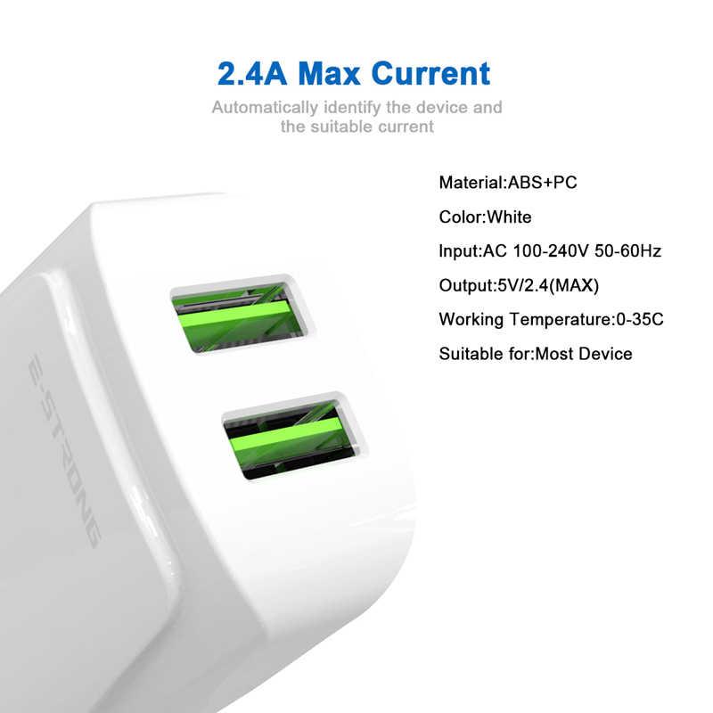 AIXXCO 2 2.4A LED UE Porta USB Carregador Do Telefone Móvel Carregador USB de Carregamento Rápido Carregador de Parede Para o iphone x Samsung 9 s Xiaomi