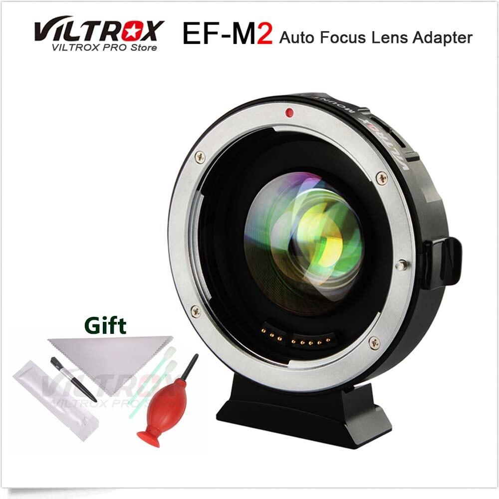 VILTROX EF-M2 0.71x Elettronico di Messa A Fuoco Automatica Riduttore di Velocità Booster Turbo Adattatore per Canon EF Lens per M4/3 Della Macchina Fotografica GH5 GF6 GX7 OM-D