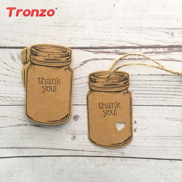 tronzo 50pcs drift bottle shape craft paper tag wedding decor baby